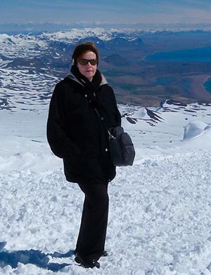 Jackie in Iceland